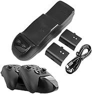 JINQII Estação de carregamento de controlador universal para controles Xbox Series X S, base de carregador com