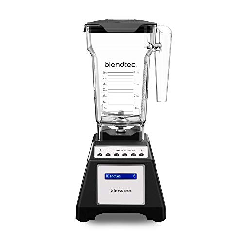 Blendtec Total Classic Original Blender with FourSide Jar (75oz volume/32 oz Wet/Dry Fillable), Professional-Grade Power, 6 Pre-programmed Cycles, 10-speeds, Black