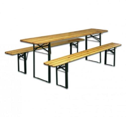 Fachhandel-Plus - Juego de mesa y bancos (plegable): Amazon.es: Jardín