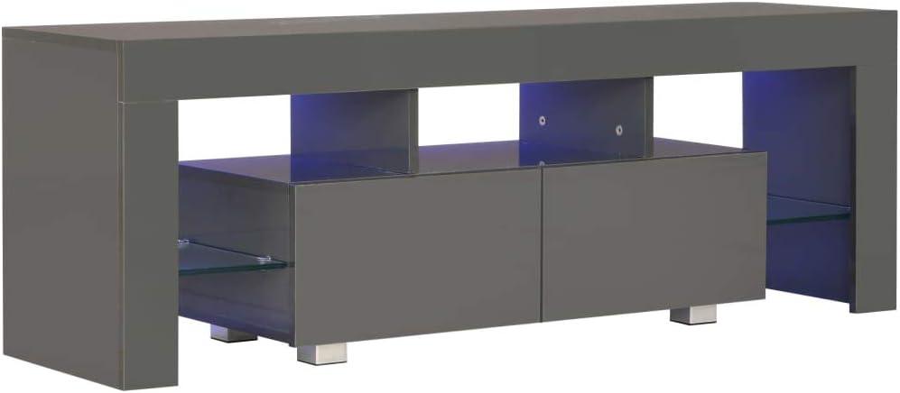 Festnight Mesas para TV Mueble TV Salon Mueble para TV con Luces LED 130x35x45 cm: Amazon.es: Hogar