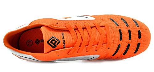 Droomparen 151028-151030 Heren Sport Flexibel Atletisch Vrijlopend Lichtgewicht Indoor / Outdoor Voetbalschoenen In Vet Oranje-wit-zwart