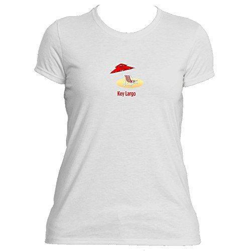 Key Largo, Florida Beach Chair - Women's Moisture Wicking T-Shirt (Small, White)