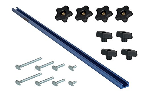 - POWERTEC 71170 Universal T-Track Kit; including 48-Inch T-Track and 16-piece Hardware kit, 17 PK