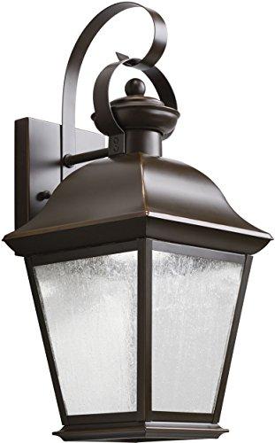 Kichler 9708OZLED Mount Vernon Outdoor Wall 1-Light LED, Olde Bronze