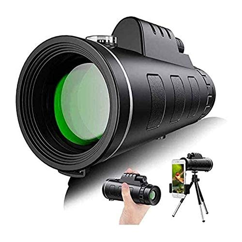 Monocular Telescope 40X60 High Power Starscope with Smartphone Holder IPX7 Waterproof Monocular for Watching Hunting Camping Hiking