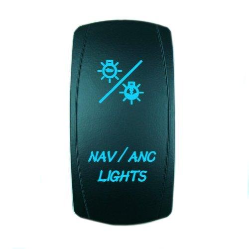 Laser Blue Rocker Switch NAV / ANC LIGHTS 20A 12V On/off LED Light (Nav Light)