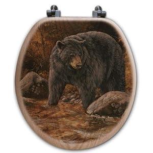 WGI Gallery TS-R-SSB Streamside Bear Round Toilet Seat