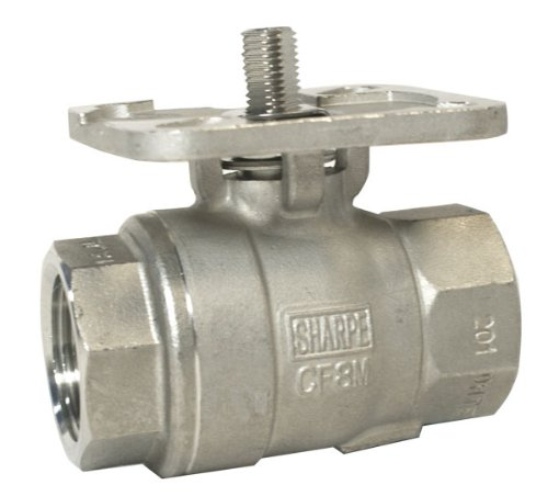(Sharpe Valves 11 Series Stainless Steel 316 Direct Mount Ball Valve, Two Piece, Inline, 3/4