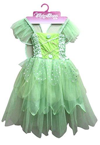 Jason Party Girls' Princess Dress Green 7-9 years (Green Fairy Costumes)