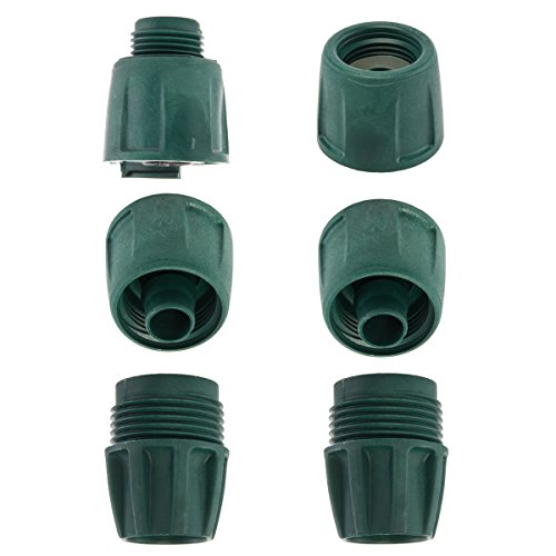 Swan  6 piece Garden Water Hose Coupler Kit Quick Hoselink Plastic Assembly Connector, 5/8 Inch (Hose Assembly Plastic Water)
