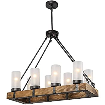 laluz rustic ceiling lights wood chandelier lighting. Black Bedroom Furniture Sets. Home Design Ideas
