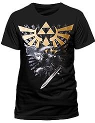 Nintendo Men's The Legend Of Zelda Link T-shirt Black