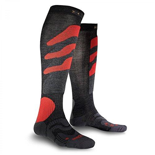 X-Socks Funktionssocken Ski Precision, Anthracite/Red, 39/41, X020291
