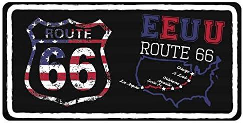 Oedim Matricula Decorativa Americana 30,00 cm x 15,00 cm EE.UU Ruta 66 | Decoración Pared | Aluminio 3 mm Resistente: Amazon.es: Hogar