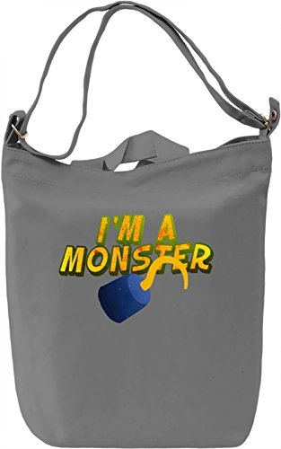 I'm A Monster Borsa Giornaliera Canvas Canvas Day Bag| 100% Premium Cotton Canvas| DTG Printing|