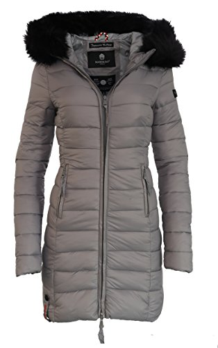 Marikoo Damen Winter Jacke Mantel Steppmantel übergangsjacke Lang