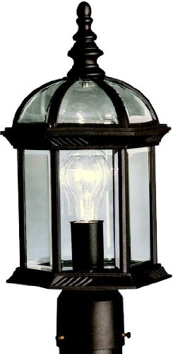 (Kichler 9935BK Barrie Outdoor Post Mount 1-Light, Black)
