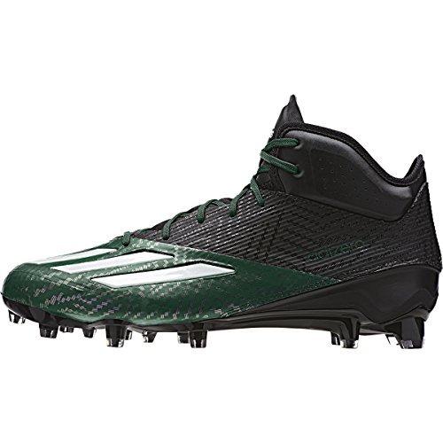 adidas Adizero 5Star 5.0 Mid Mens Football Cleat 12 Black-Wh