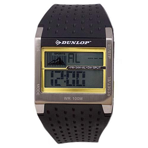 Dunlop Digital Watch Mens DUN113G07 Silver/Gold Quartz