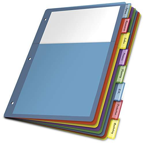 - Cardinal 84017 Poly 1-Pocket Index Dividers, Letter, Multicolor, 8-Tabs per Set (Pack of 4 Sets)
