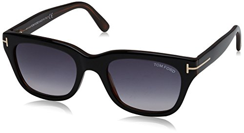 Tom Ford SNOWDON FT0237 05B Black/Other Sunglasses Grey Gradient 52mm Lens (Tom Ford Sunglasses)