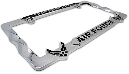 Mitchell Proffitt USAF Air Force METAL Premium License Plate Frame Air Force Metal