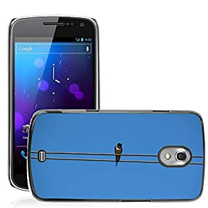 Hot Style Cell Phone PC Hard Case Cover // M00308140 Bird Schwalbe Sky Nature Lines Blue // Samsung Galaxy Nexus GT-i9250 i9250