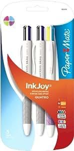 Paper Mate InkJoy Quatro Retractable Medium Point Advanced Pens, Assorted Colors
