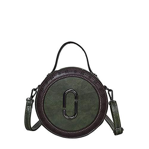 (Women Handbag Hollow Out Shoulder Bag Tote Ladiesrse Hobo Bags Round package Shoulder bag,GREEN,Mini(less than 20cm))