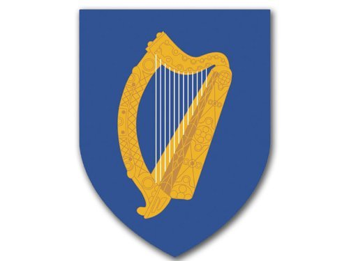 irish-coat-arms-celtic-harp-on-blue-shield-shaped-sticker