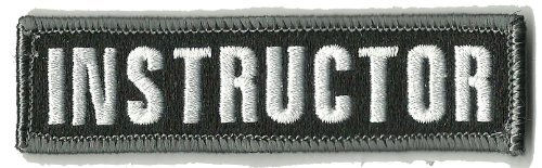 Instructor Tactical Hat Patch - Black