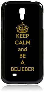 keep calm and be a belieber - Hard Black Plastic Snap - On Case --Samsung? GALAXY S3 I9300 - Samsung Galaxy S III - Great Quality!
