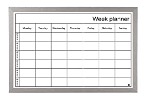 Bi-Office Dry Wipe Weekly Planning Board with Pen: Amazon.co.uk ...