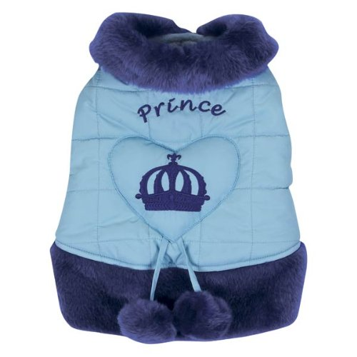 East Side Collection Polyester Royalty Dog Coat, Teacup, Prince, Blue (East Collection Side Dog Clothes)
