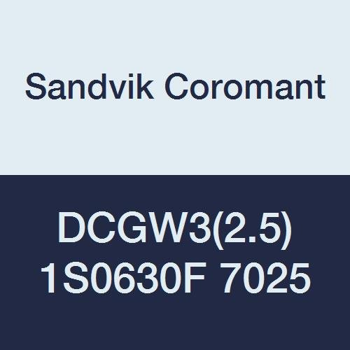 - Sandvik Coromant, DCGW3(2.5)1S0630F 7025, CoroTurn 107 Insert for Turning, CBN, Diamond 55°, Neutral Cut, 7025 Grade, Uncoated
