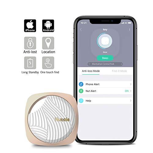 Nutale Focus Smart Key Finder Bluetooth WiFi Tracker Locator Wallet Phone Key Anti-Lost Bidirectional Alarm Reminder (Gold, 1Pack)