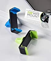 Smart Phone Holder Blue and Green 3 x 2 Acrylic Cell Car Cradle Mounts Set of 2