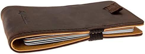 Minimalist Leather Slim Wallet & Front Pocket Card Holder for Men & Women