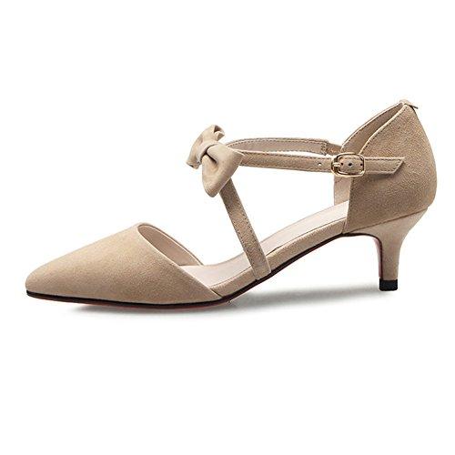 Tamaño Profundo Poco Del Zapatos Boca Bowknot Zapato Eu38 Y uk5 5 cn38 Fine  Color Tacón ... b8da8ff0e16e