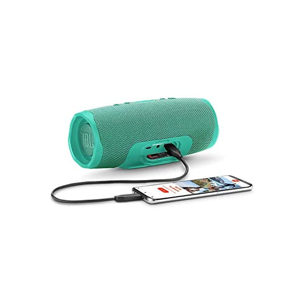 JBL Charge 4 - Enceinte Bluetooth portable avec USB - Robuste et étanche : pour piscine et plage - Son puissant - Autonomie 20 hrs - Turquoise 3