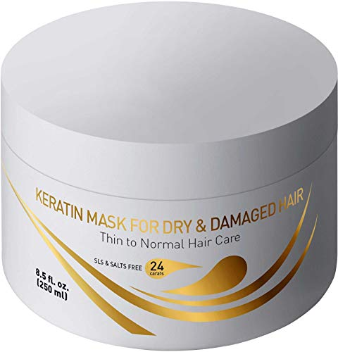Vitamins Keratin Hair Mask Deep Conditioner - Thin Fine Hair Keratin Argan Silk Hydrating Complex to Repair Dry Damaged Hair and (Hydrating Treatment Mask)