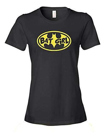 (Bat Girl Tee Shirt Womens L black)