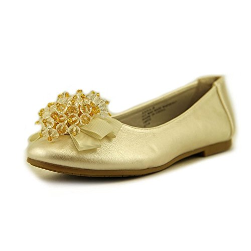 Girls Flats with Crystal Bead Bow (11, -