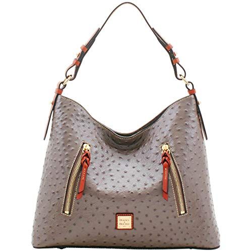 Dooney Bag And Bourke Hobo - Dooney & Bourke Ostrich Cooper Hobo Shoulder Bag
