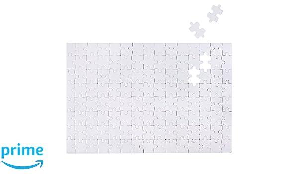 Puzzle vac/ío Kopierladen Rompecabezas//Puzzle de Color Blanco para Decorar y Pintar Usted Mismo 120 Piezas en Blanco//vac/ío 285 x 200 mm