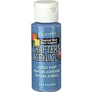 DecoArt 2-Ounce Tropical Blue Gloss Crafter's Acrylic Paint
