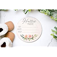 Birth Announcement Baby Name Sign Wood Sign Newborn Hospital Photo Prop Girl Reveal Baby Photo Props Name Announcement New Baby Sign