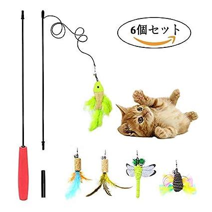 YUEYANG Juego de Peluca de Juguete para Gatos, Diseño de Mariposas y libélulas, para