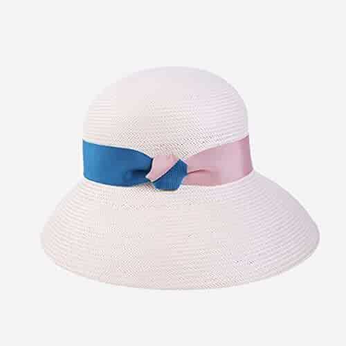 b3167b7a Sun Hat Papyrus Spring Summer Travel Sunscreen Cap Women Shade Fishman  Trend (Color : Pink