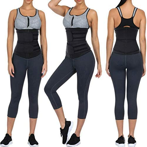 DIIIBARLORY SweatFIT Adjustable Waist Slimming Trimmer - Original Neoprene Sweat Waist Trainer Corset Trimmer Belt for Women Weight Loss, Waist Cincher Shaper Slimmer 2